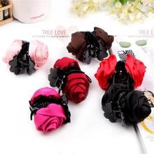 цены на New Fashion Korean Brand Hair Clip Rose Hair Claws Clips Hair Accessories For Women Girls Hair Crab Clamp Hot Free Shipping  в интернет-магазинах