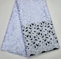 Latest High Quality Nigeria design African wedding lace fabric pure white guipure lace fabrics
