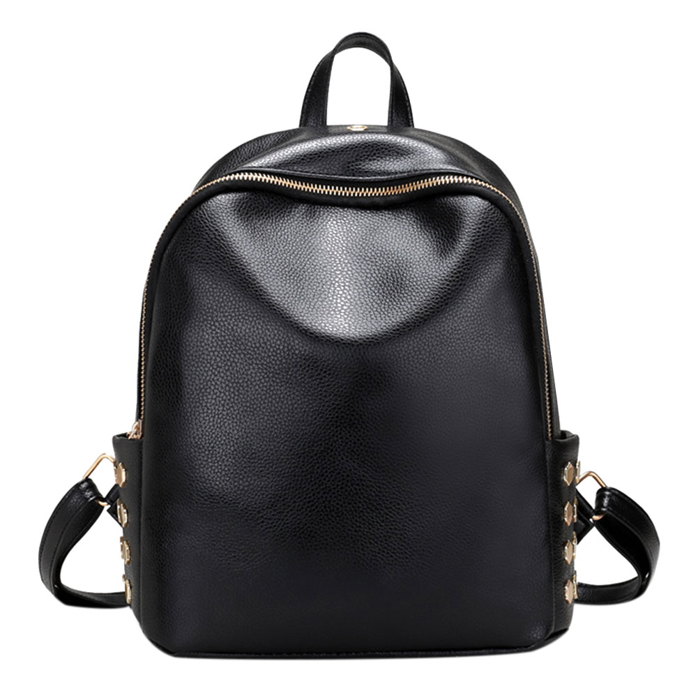 Fashion PU Rivet Backpack Women Casual Travel School Bags for Teenage Girls Leather Backpack Bagpack mochila Shoulder Bag newest 220v 1 1kw automatic pump pressure controller electronic switch control for water pump