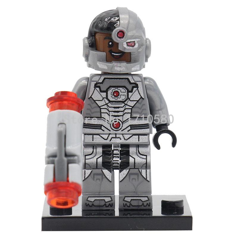 XINH 174 DC Super Heroes Avengers Mini Action Figure Cyborg Victor Stone Single Sale Building Blocks Set Model Toys For Children