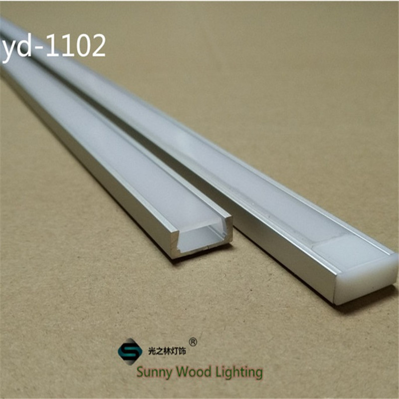 20-80m/lot 10-40pcs of 2m 80inch/pc aluminum profile for led strip,slim led channel for 8-11mm strip, led bar light track free shipping super wide u shape aluminum anodized profile for led strips with cover and end caps for dual row led strip