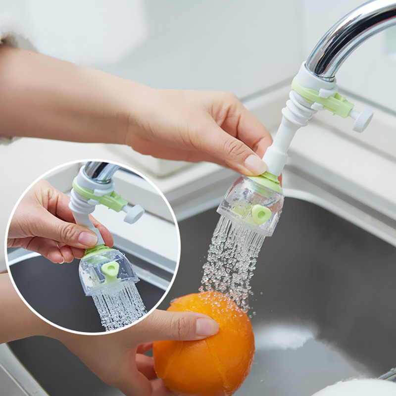 Home Faucet 360 degree rotatable Kitchen Faucet Spouts Sprayers Tap water water-saving device Kitchen Faucet Accessories