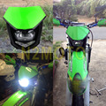 Motocross Enduro Headlights  Street Fighter For Kawasaki KX65 85 125 250 500 250F 450F KLX450R 150 250 Green Headlamp