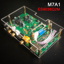 HIFI College M7A1 MINI HIFI ES9038Q2M DSD I2S SPIDF decoder board amanero USB DAC audio headphone amplifier