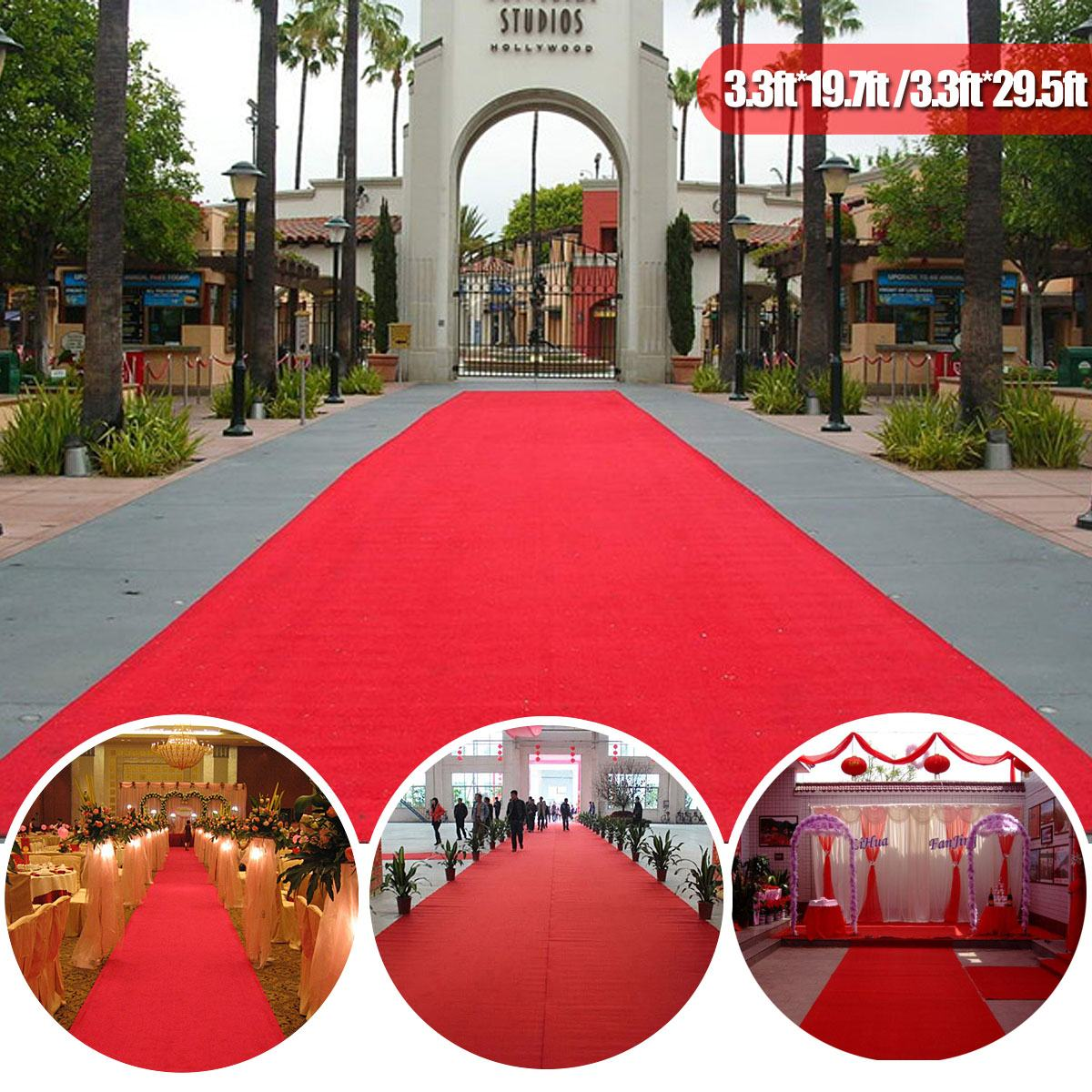 KIWARM Red Carpet Mats Aisle For Wedding Banquet Film Festivals Parties Celebrations Awards Events Decoration Carpet 6/9/13/15m
