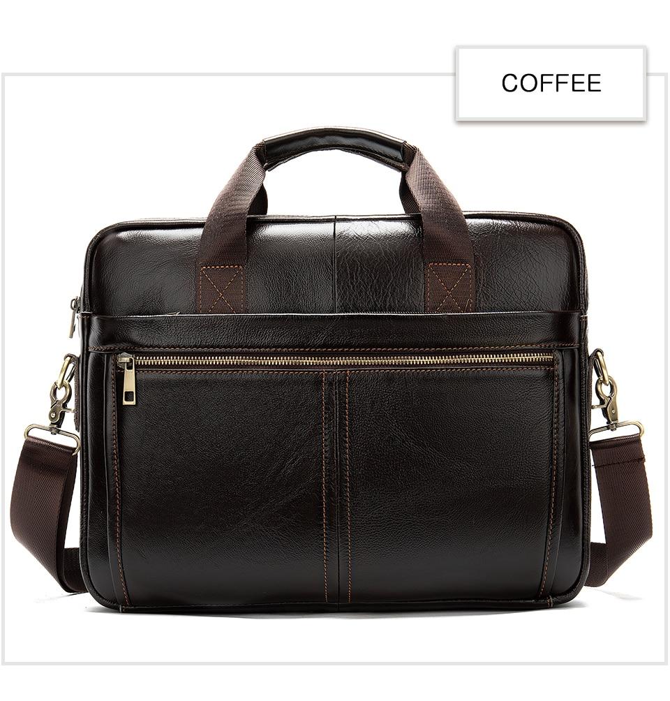 HTB1zD91UCzqK1RjSZFjq6zlCFXaA WESTAL briefcase messenger bag men's genuine leather 14'' laptop bag men's briefcases office business tote for document 8572