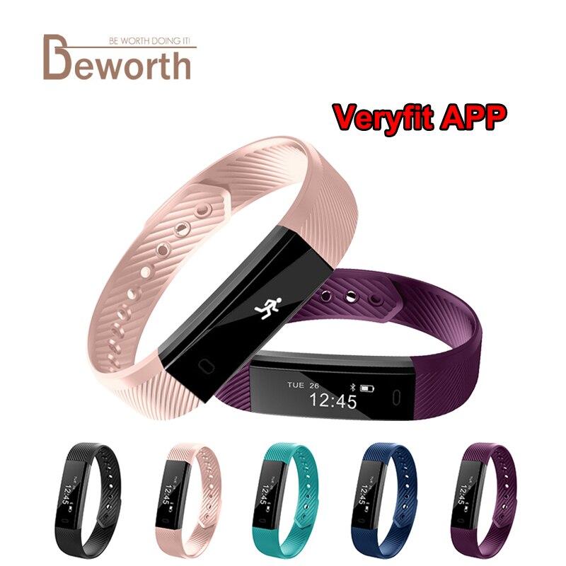ID115 Fitness Tracker Smart Wristband Bluetooth Sleep Monitor Sport Bracelet Smart Band Veryfit APP pk Fit Bit mi band 2 3 TK47