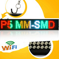 P5 SMD Светодиодный знак Android мобильный wi-fi беспроводной программируемый прокрутки новости Светодиодные табло (смешанный цвет)