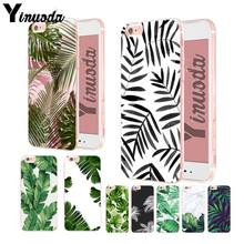 Yinuoda plantas folhas de bananeira para iphone 7 plus capa macia para iphone 6plus 7 plus 8plus x xs xr xsmax(China)