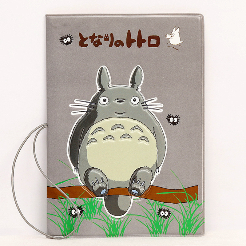 Cartoon Totoro Passport Cover Wallet Bag Travel Accessories Women ID Address Holder Portable Boarding PU Leather Cute Card Cover