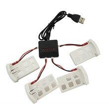 BLL Syma X5UC / X5UW RC Quadcopter Spare Parts Accessories 3.7V 500mAh Battery * 4PCS + USB Charger + Transfer Cable * 4PCS