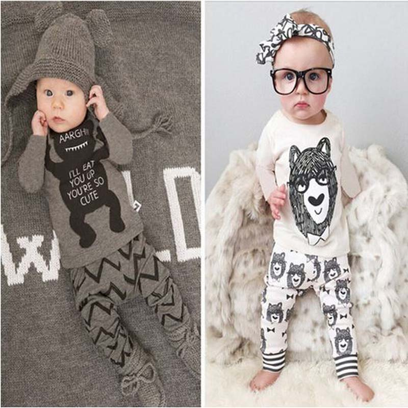 1 set Retail!2018 childrens clothing style baby bebes kids clothing set boy with long sleeves Boys Clothes YAA008
