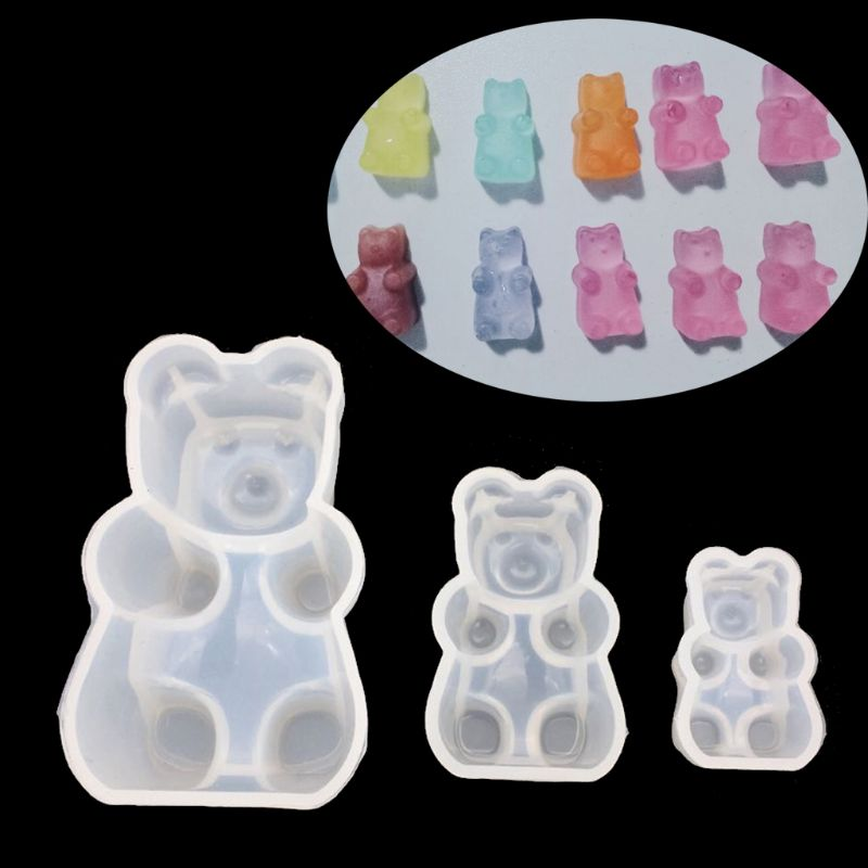 Gummy Bear Candy Silicone Mold Cake Chocolate Fondant Resin Pendant Jewelry DIY