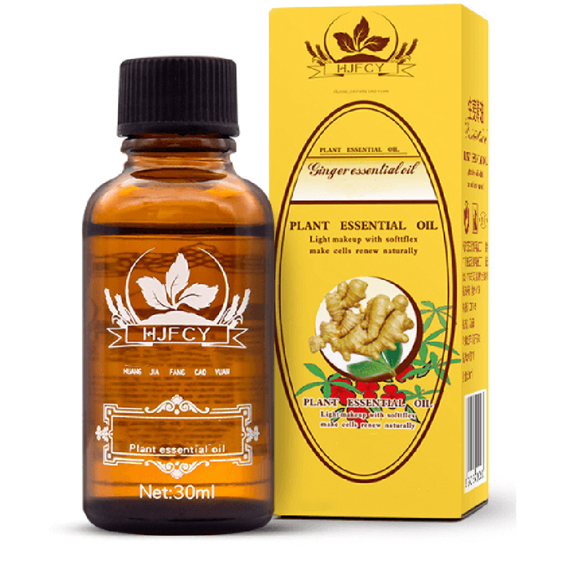 Dropshipping 30ml Natural Plant Therapy Lymphatic Drainage Ginger Oil Natural Anti Aging Essential Oil Body Massage