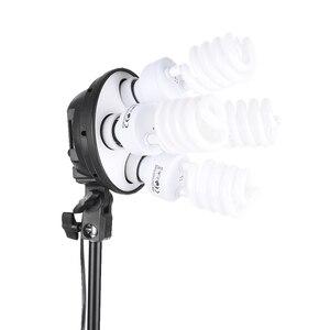 Image 5 - Andoer סטודיו תמונה תאורת ערכת עם 2 Softbox 2 4in1 הנורה שקע 8 45W הנורה 2 אור Stand 1 נשיאת תיק