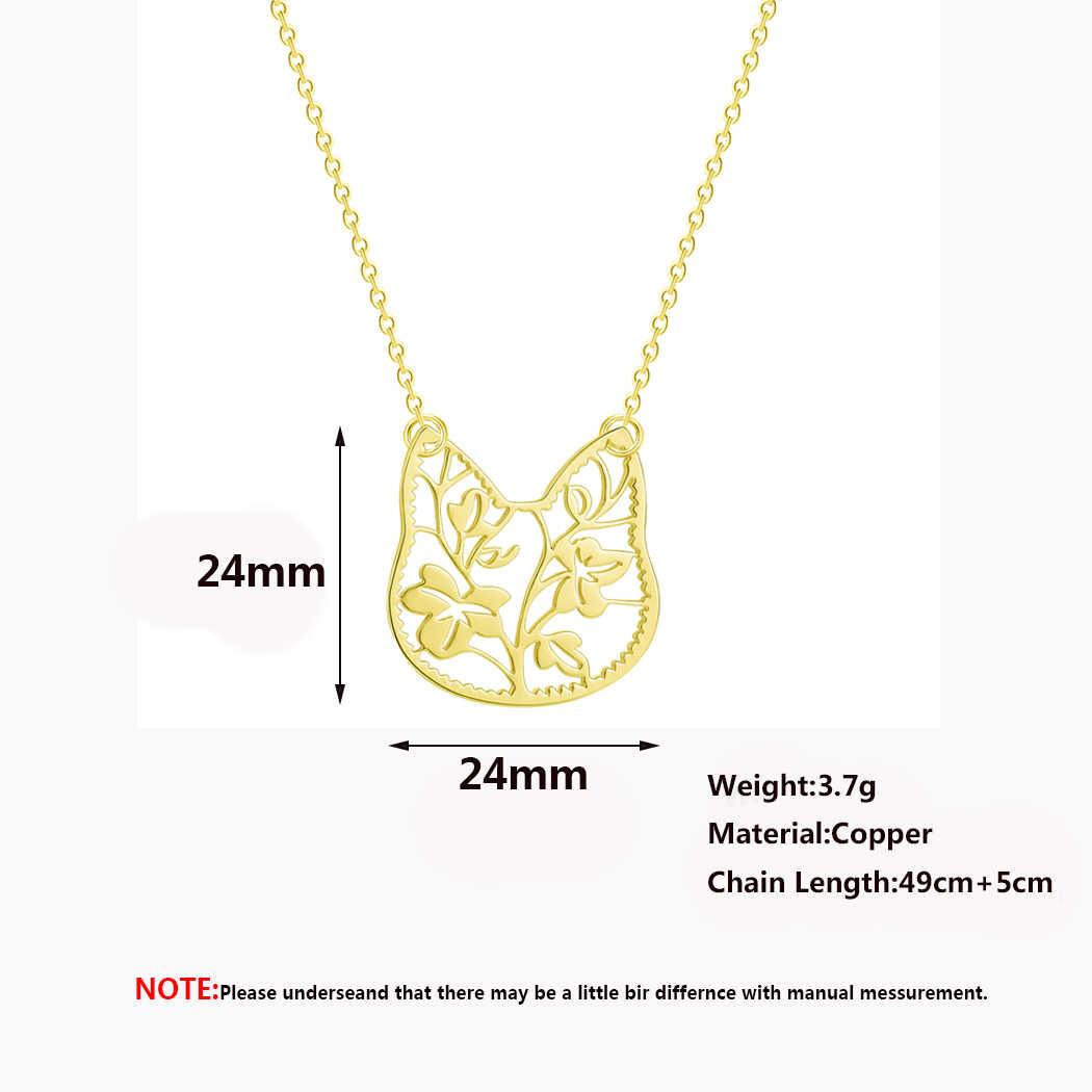 2019 ze stali nierdzewnej kobiet naszyjnik proste miłość kot księżyc mapa świata geometryczne oświadczenie biżuteria naszyjnik dziewczyny prezent