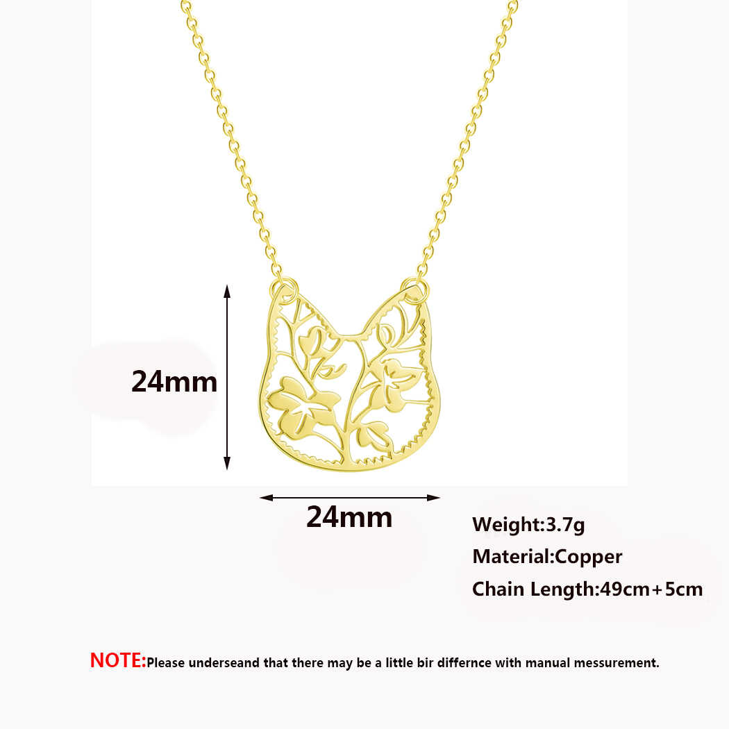 2019 ステンレス鋼の女性のネックレスシンプルな愛猫ムーン世界地図幾何ステートメントジュエリーペンダントネックレスの女の子のギフト