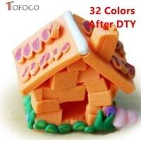 TOFOCO 32 sztuk/zestaw Polimeru Gliny Plastelina Z Zestawów Narzędzi Śmieszne Playdough Magnetyczne Światła Szlam Zabawki Early Zabawki Edukacyjne