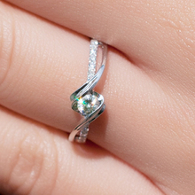 FREESHIPPING CPP 0.2 TOTAL CARAT 100% REAL DIAMOND 14K 585 WHITE GOLD ENGAGEMENT RING FOR WOMEN