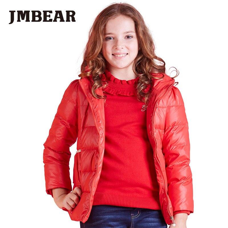 JMBEAR kış yeni ceket kızlar aşağı ceket çocuklar sıcak parka kapşonlu moda tasarım 6-14 yıl