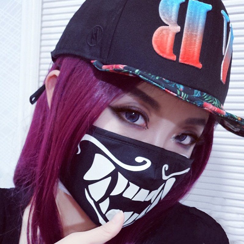 K/DA KDA Akali Mask Cosplay Akali Assassin Cosplay S8 Face Masks Glow In The Dark Carnival Christmas New Year Gifts Party Props