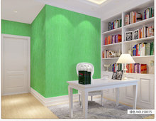 Solid color paper walls plain blue green fresh wallpaper
