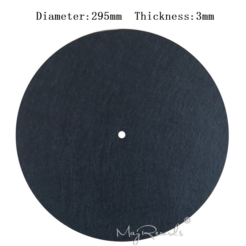 3MM Black Anti-static Slipmat 12'' Felt Record Mat For Phonograph Turntable Vinyl