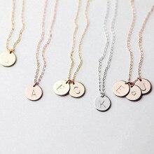 Модное ожерелье-чокер с 26 буквами для женщин, золотое, серебряное, металлическое ожерелье с кулоном в виде монеты, изысканные украшения, подарок