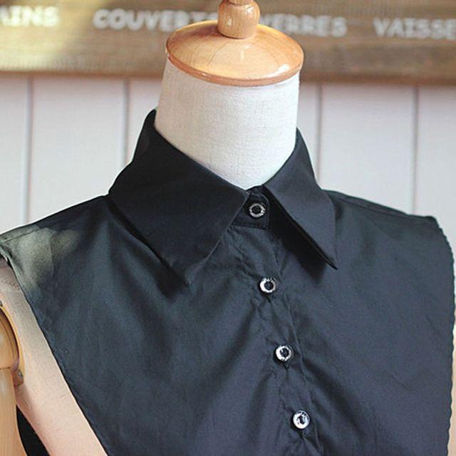 1PC Women Solid Shirt False Collar 1