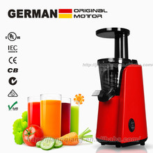 GERMAN Motor Technology 150-Watt orange juice Fountain and slow juicer Extractor with Space Saving Design, Red