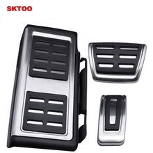 SKTOO Punch-free car pedals brake pedal metal car pedals For Volkswagen VW Golf 7 MK7 GTI Skoda Octavia A7