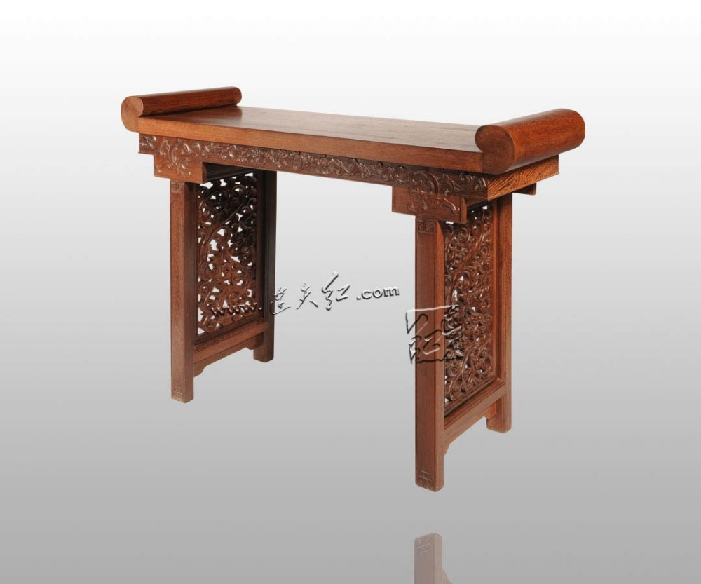 Dragon Grain Scroll Writing Desk China Classical Antique Home Furniture Burma Rosewood Painting Table Office Standing Book Case