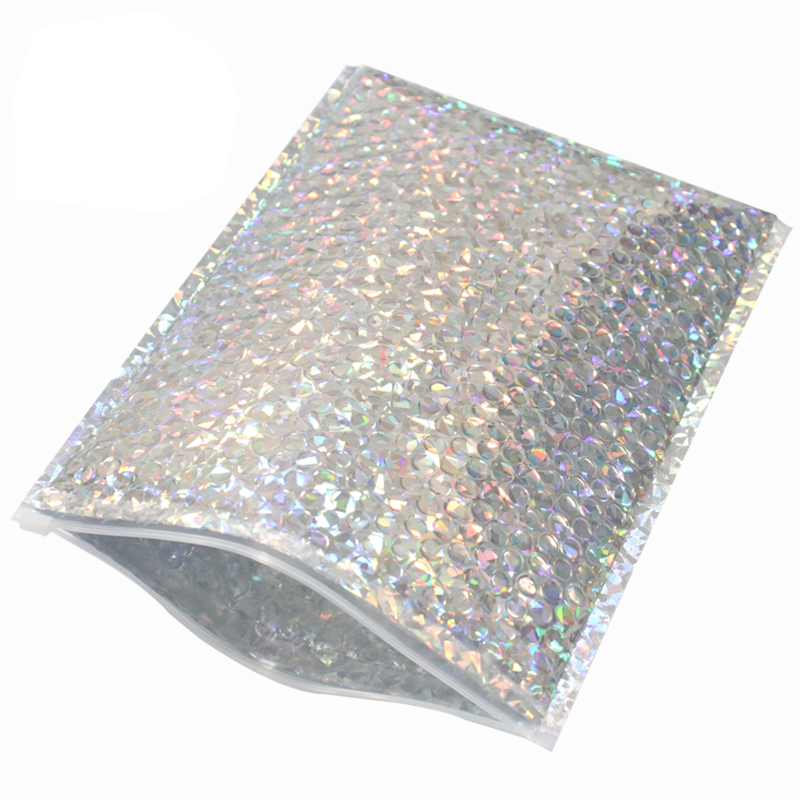 10pcs pack Aluminized Foil metallic bubble mailer with zip lock in Paper Envelopes from Office School Supplies