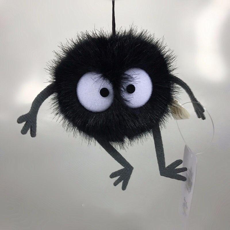 Juguetes de peluche animados lejos Totoro pequeño colgante de peluche de juguete negro carbón bola polvo Dust Elf muñeca Juguete de alta calidad dibujo de osito de felpa juguetes de peluche 25cm animales de peluche oso muñeca regalo de cumpleaños para niños