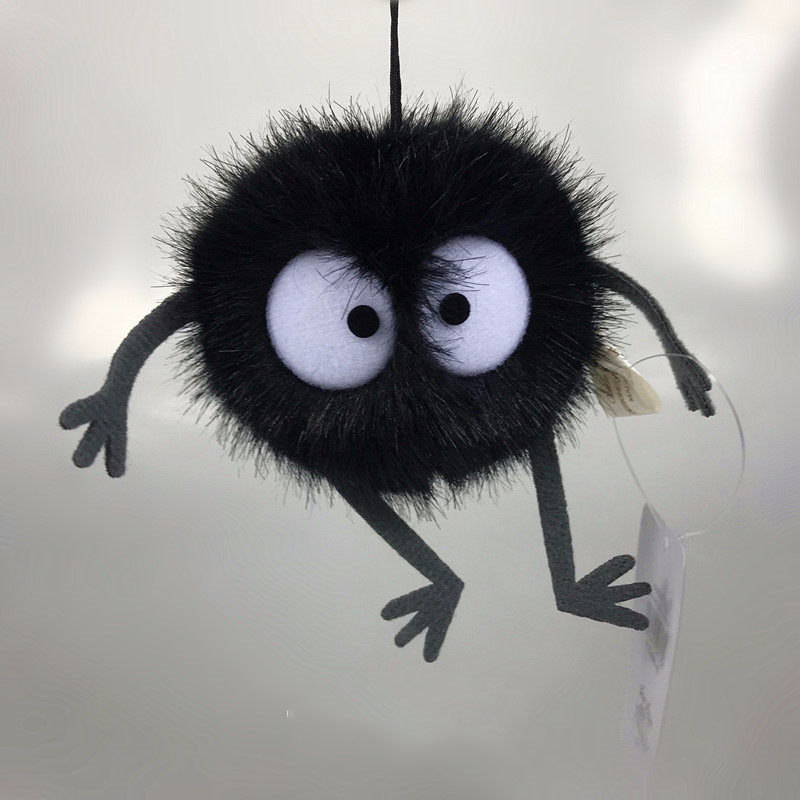 Plush Toys Spirited Away Totoro Small Pendant Plush Toy Black Carbon Coal Ball Dust Elf Doll
