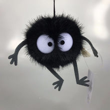 Plush Toys Spirited Away Totoro Small Pendant Plush Toy Black Carbon Coal Ball Dust Elf Doll(China)