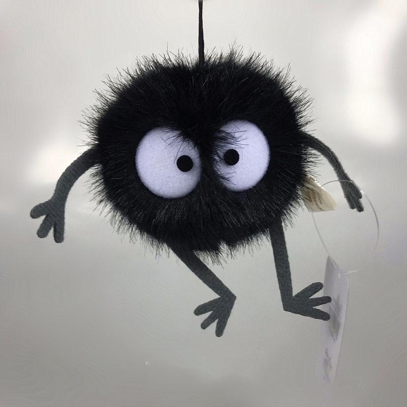 Plush Toys Spirited Away Totoro Small Pendant Plush Toy Black Carbon Coal Ball Dust Elf Doll