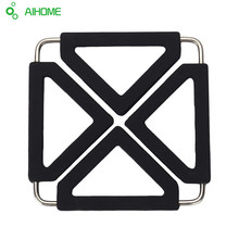 Creative Silicone Pot Holder, Square Trivet Mat, Flexible, Durable Heat Resistant Hot Pads 6 Colors