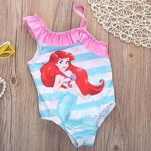 Meisje ballet mermaid little swimming toddler suits bathing one bikini piece