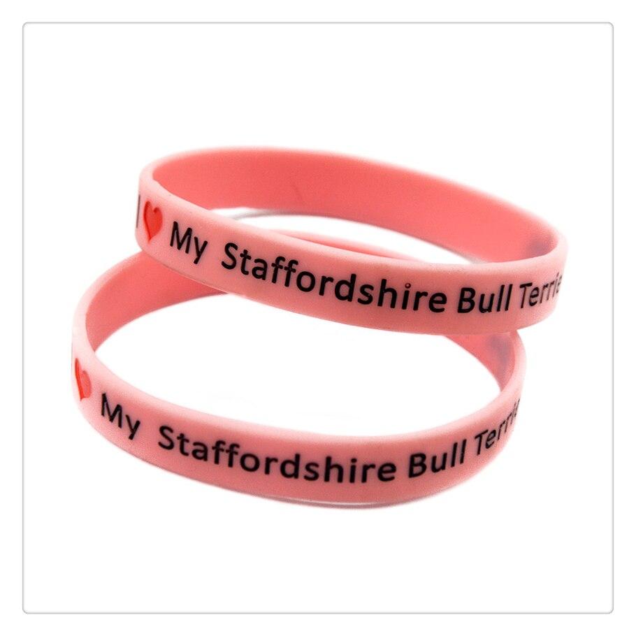 OneBandaHouse 1 unid amo mi Staffordshire Bull Terrier silicona ...