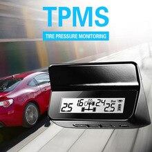 Steelmate ET-640AE DIY TPMS Car Alarm Tire Pressure Monitoring System Car Alarm System with LCD Display 4 Valve-cap Sensors