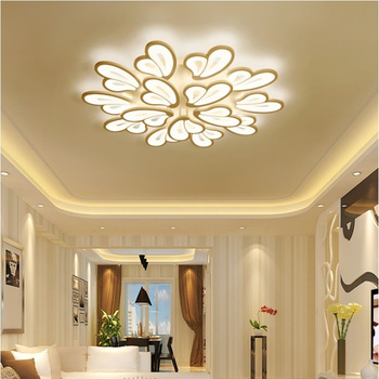 Free Shipping New Design Acrylic Leaves Led Ceiling Lights For Living Study Room Bedroom lampe plafond avize Indoor Ceiling Lamp