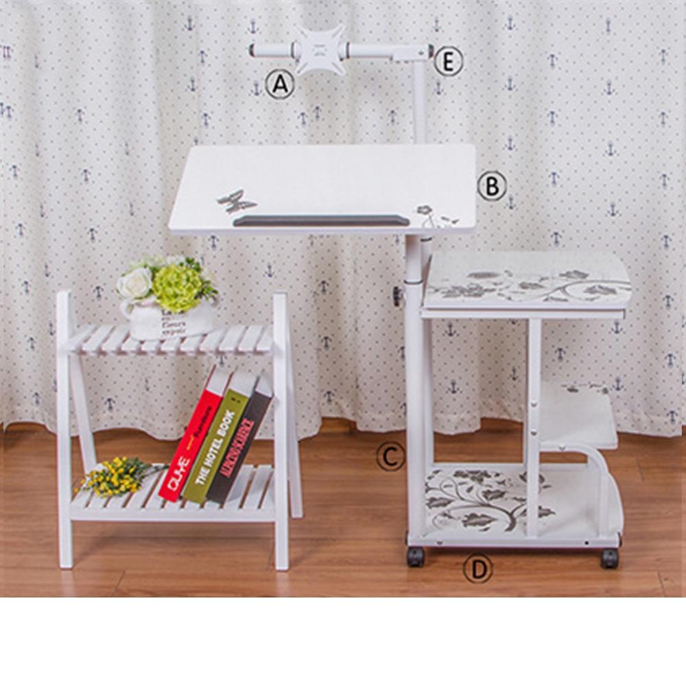 стол с регулируемой высотой портативный стол для ноутбука Портативный Складной Регулируемый стол для ноутбука компьютерный стол на колесиках - 2