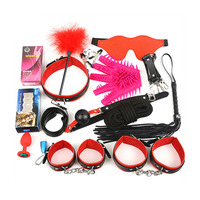 16set Women Sex Handcuffs Nipple Clamps Rope Whip Mouth Gag Sex Mask Anal Plug Bdsm Bondage Set Sexy Lingerie Toys for Adults