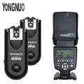 Беспроводная вспышка YONGNUO для цифровых зеркальных камер Canon  Nikon  Беспроводная вспышка с ручным триггером  2 4 ГГц  2 * YN-560