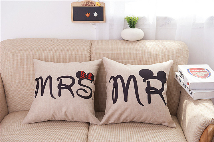 Mr And Mrs Pillowcases Romantic Pillow Case Cover For Him