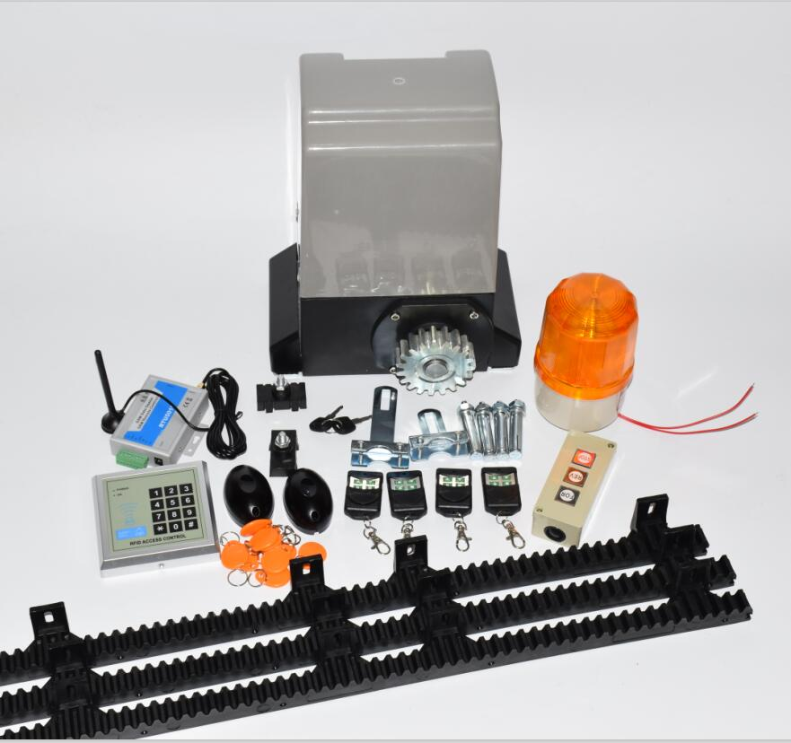 Home villa automatic AC motor Sliding gate opener operator kit 370W for 800kgs gate with 5m or 4m nylon gear rack