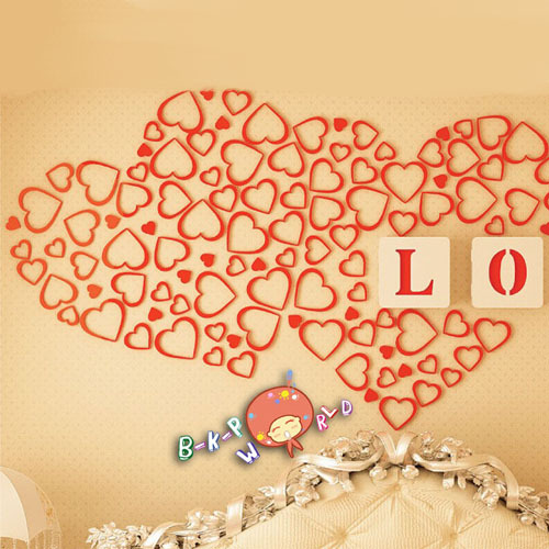 Colorful Wooden Heart Wall Decor Image - Wall Art Design ...