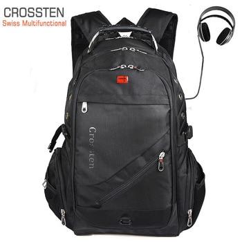 Crossten Swiss Travel Bags Laptop Backpack 17.3