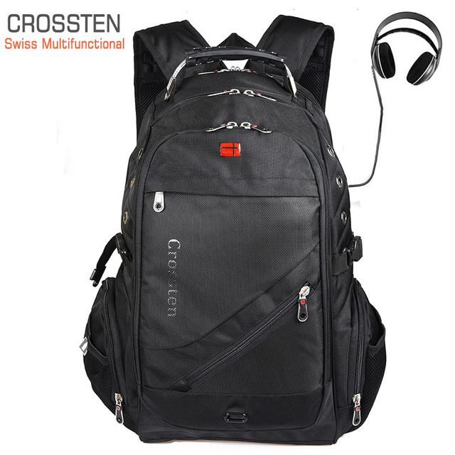 Crossten Swiss Travel Bags Laptop Backpack 17.3